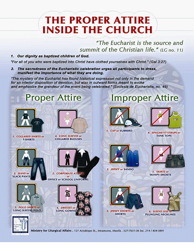 On Modesty, and how Catholics must Dress for Holy Mass – A